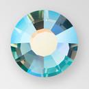 MC Hot Fix Chaton Rose in Aqua Bohemica AB color, size ss34, foiled back