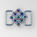 1 inch ss29 Square Crystal AB Silver Rhinestone Connector