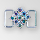 0.75 inch ss18 Square Crystal AB Silver Rhinestone Connector