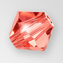 6mm MC Preciosa Bicone (Rondelle) Bead, Padparadscha color