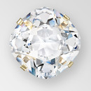 10mm Crystal Silver Square MC stone in sew on setting
