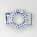 1 inch Crystal Silver Rhinestone Round Swan Hook Connector, ss8.5 (30% applied; limited - time special)