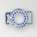 1 inch Crystal AB Silver Rhinestone Round Swan Hook Connector, ss8.5 (30% applied; limited - time special)