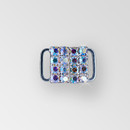 0.5 inch Square Rhinestone Closure with eye and hook, Crystal AB Silver, ss12