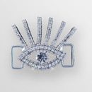 1.5 inch Rhinestone Eye Connector in Crystal Silver, ss6.5, ss34