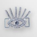 1.50 inch Rhinestone Eye Connector in Crystal Silver, ss6.5, ss34