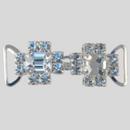 1.90 Inches x 0.625 Inch Crystal Silver Rhinestone Closure