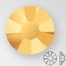 ss20 AURUM - PRECIOSA MAXIMA Flat Back, 15 facets, foiled