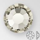 ss20 BLACK DIAMOND - PRECIOSA MAXIMA Flat Back, 15 facets, foiled