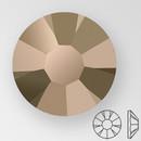 ss20 BROWN FLARE - PRECIOSA MAXIMA Flat Back, 15 facets, foiled