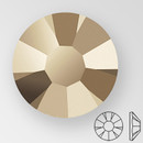 ss20 STARLIGHT GOLD - PRECIOSA MAXIMA Flat Back, 15 facets, foiled
