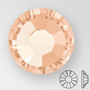 ss30 LIGHT PEACH - PRECIOSA MAXIMA Flat Back, 18 facets, foiled
