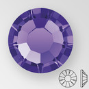 ss30 PURPLE VELVET - PRECIOSA MAXIMA Flat Back, 18 facets, foiled