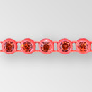 1-row ss13 Hyacinth, Fluorescent Orange Setting, Machine Cut Rhinestone  Plastic Banding