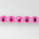 1-row ss13 Fuchsia, Fluorescent Pink Setting, Machine Cut Rhinestone  Plastic Banding
