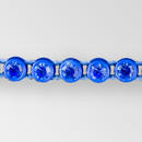 1-row ss13 Sapphire, Navy Blue Setting, Machine Cut Rhinestone  Plastic Banding