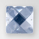 19mm Acrylic Square Sew-On Stone, Crystal color