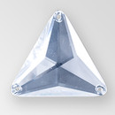 26mm Acrylic Triangle Sew-On Stone, Crystal color