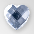 30mm Acrylic Heart Sew-On Stone, Crystal color