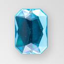 18x13mm Acrylic Octagon Sew-On Stone, Blue Zircon color