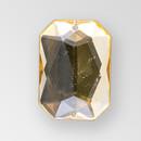 18x13mm Acrylic Octagon Sew-On Stone, Light Colorado Topaz color