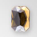 18x13mm Acrylic Octagon Sew-On Stone, Smoke Topaz color