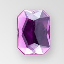 25x18mm Acrylic Octagon Sew-On Stone, Amethyst color