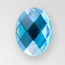 30x21mm Acrylic Oval Sew-On Stone, Blue Zircon color