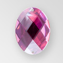 30x21mm Acrylic Oval Sew-On Stone, Rose color