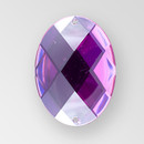 35x25mm Acrylic Oval Sew-On Stone, Amethyst color