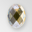 40x30mm Acrylic Oval Sew-On Stone, Light Colorado Topaz color