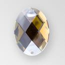 40x30mm Acrylic Oval Sew-On Stone, Smoke Topaz color