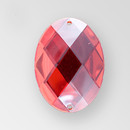 40x30mm Acrylic Oval Sew-On Stone, Light Siam color