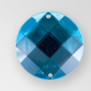 18mm Acrylic Round Sew-On Stone, Blue Zircon color