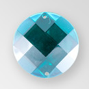 18mm Acrylic Round Sew-On Stone, Emerald color