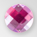 18mm Acrylic Round Sew-On Stone, Rose color