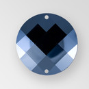18mm Acrylic Round Sew-On Stone, Hematite color