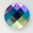 18mm Acrylic Round Sew-On Stone, Crystal AB color