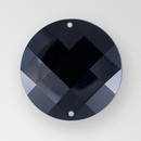 22mm Acrylic Round Sew-On Stone, Jet color