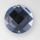22mm Acrylic Round Sew-On Stone, Black Diamond color