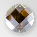 22mm Acrylic Round Sew-On Stone, Smoke Topaz color