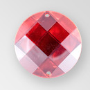 35mm Acrylic Round Sew-On Stone, Light Siam color
