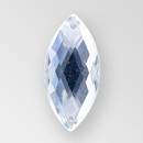 23x10mm Acrylic Navette Sew-On Stone, Crystal color