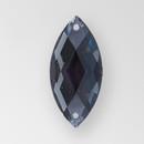 23x10mm Acrylic Navette Sew-On Stone, Black Diamond color