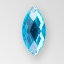 26x12mm Acrylic Navette Sew-On Stone, Blue Zircon color