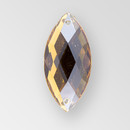 26x12mm Acrylic Navette Sew-On Stone, Smoke Topaz color