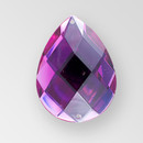 35x25mm Acrylic Pearshape Sew-On Stone, Amethyst color