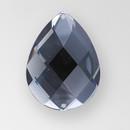 40x30mm Acrylic Pearshape Sew-On Stone, Black Diamond color