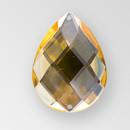 40x30mm Acrylic Pearshape Sew-On Stone, Light Colorado Topaz color