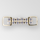 2 inch 2 row Crystal Gold Rhinestone Connector, ss18